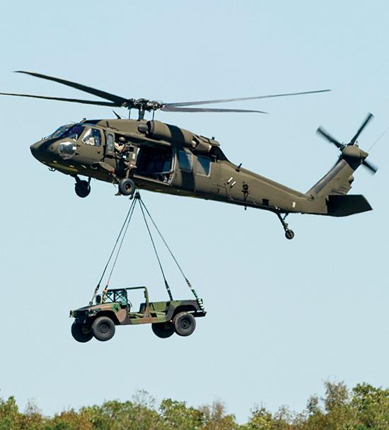 Blackhawk carrying vehicle